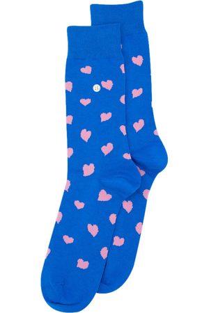 Alfredo Gonzales Heren Sokken - Sokken hearts blue pink