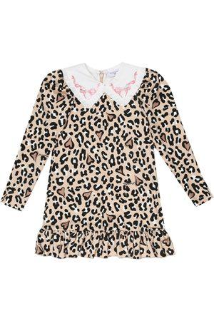 MONNALISA Leopard-print stretch-jersey dress