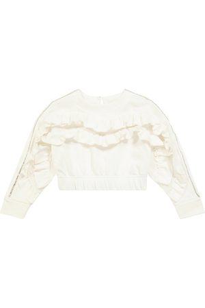 MONNALISA Embellished stretch-cotton sweatshirt