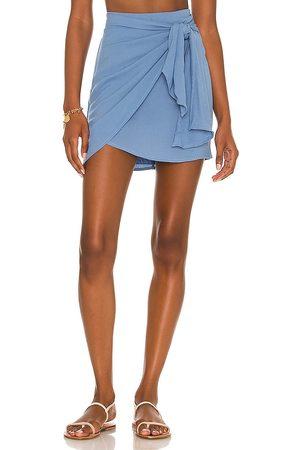 Indah Cassiel Sarong Mini Skirt in
