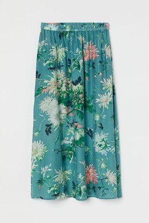 H&M Lange rok - Turquoise