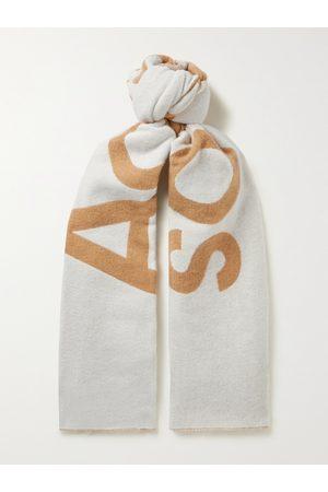 Acne Studios Logo-Jacquard Wool-Blend Scarf