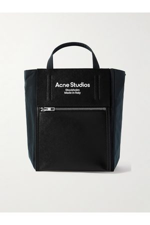 Acne Studios Heren Shoppers - Baker Out Mini Logo-Print Leather and Nylon Tote Bag