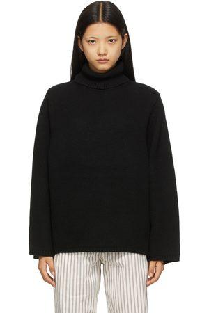 Totême Dames Coltruien - Black Wool & Cashmere Turtleneck