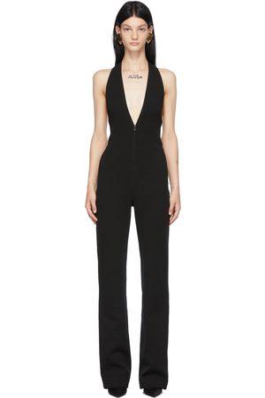 Saint Laurent Dames Jumpsuits - Black Wool Halter Jumpsuit