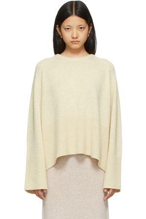 Totême Beige Merino & Camel Wool Knit Sweater
