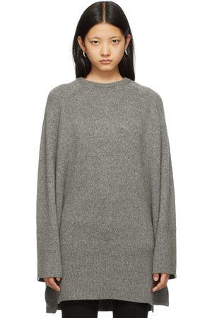 Totême Dames Sweaters - Grey Merino & Camel Wool Slit Sweater