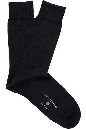 Profuomo Heren Sokken - Socks solid black pp2z00007a