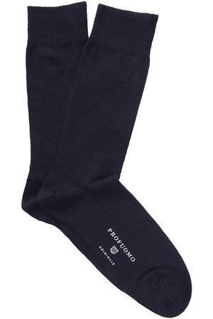 Profuomo Heren Sokken - Socks solid navy pp2z00007c