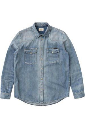 Nudie Jeans George Blue Tribe Denim Shirt