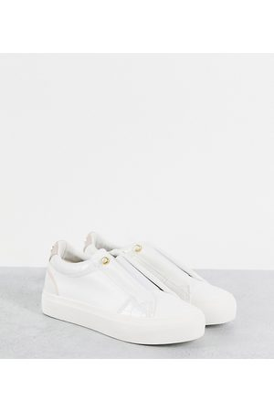 Miss KG Wide fit trainers in white