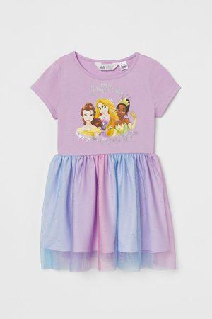 H&M Tulen jurk met print