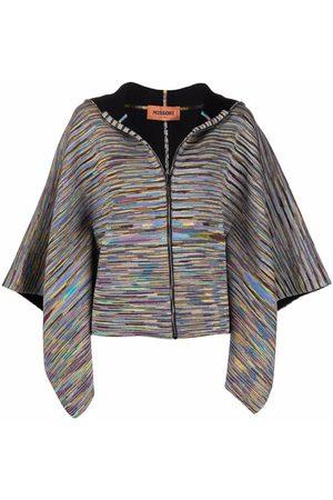 Missoni Cropped striped-knit cape cardigan