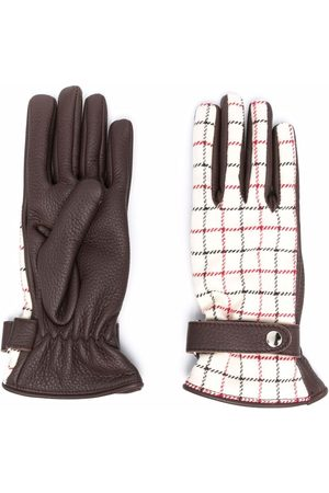 Maison Margiela Dames Handschoenen - Tattersall-check panelled gloves