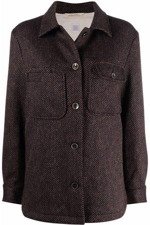 ELEVENTY Herringbone shirt jacket