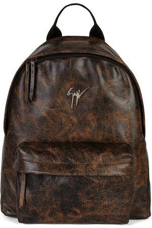 Giuseppe Zanotti Bud leather logo-plaque backpack