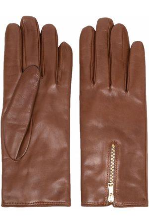 Eleventy Dames Handschoenen - Zip-detail gloves