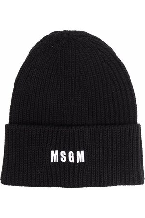 Msgm Embroidered logo beanie