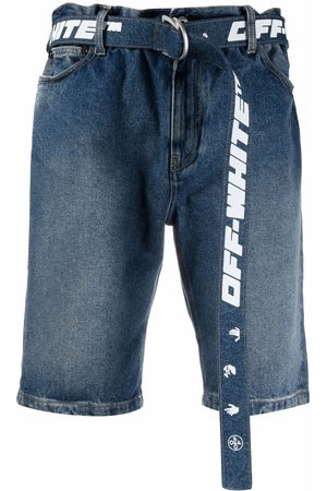 OFF-WHITE Heren Shorts - Belted denim shorts
