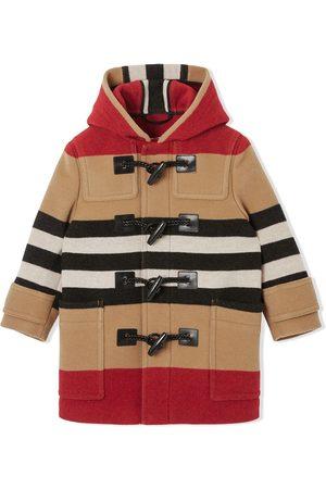 Burberry Jongens Donsjassen - Icon stripe duffle coat