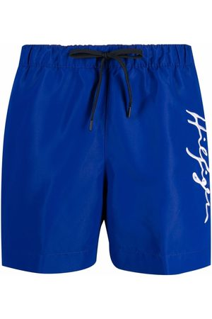 Tommy Hilfiger Autograph-embroidered swim shorts
