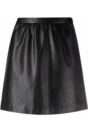 Pinko High-waisted faux leather skirt