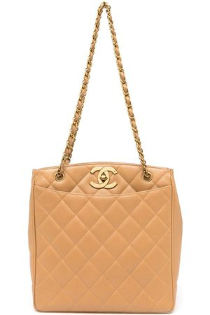 CHANEL 1995 quilted CC tote bag