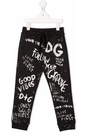 Dolce & Gabbana Logo-print drawstring track pants