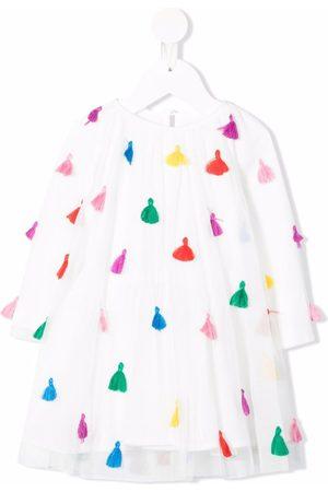 Stella McCartney Tassel-detail long-sleeved dress