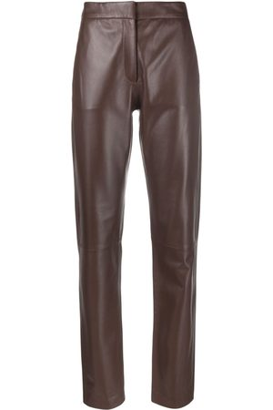 FEDERICA TOSI Straight-leg leather trousers