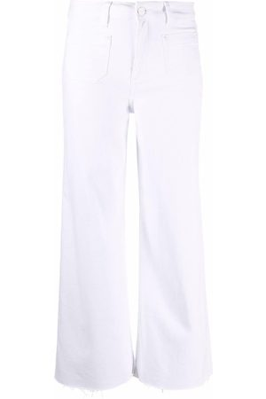 Paige Cropped straight-leg trousers