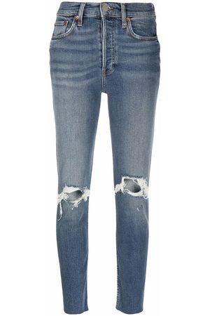 RE/DONE Dames Slim - Dusk Destroy distressed slim jeans