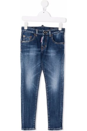 Dsquared2 Kids Mid-rise slim-fit jeans