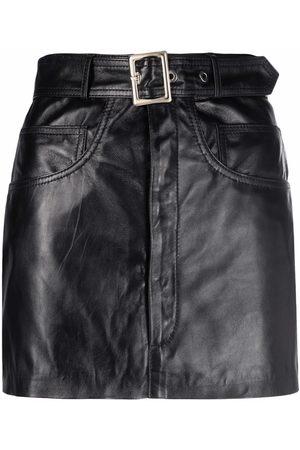 Manokhi Leather mini skirt