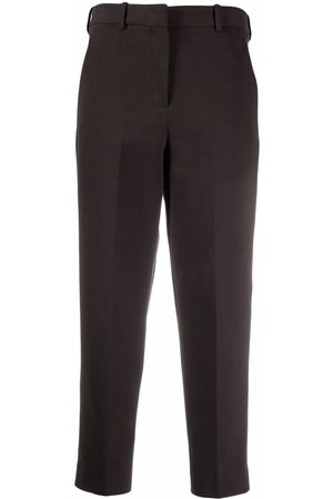 Circolo Pressed-crease high-rise cropped trousers