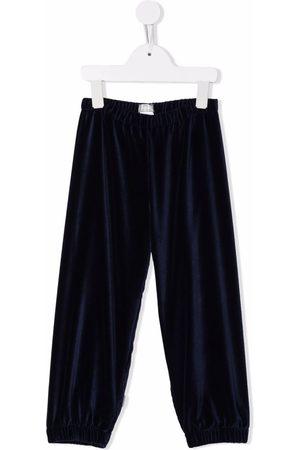 Il gufo Velvet-effect track pants