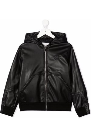 Givenchy Hooded zip-up leather jacket