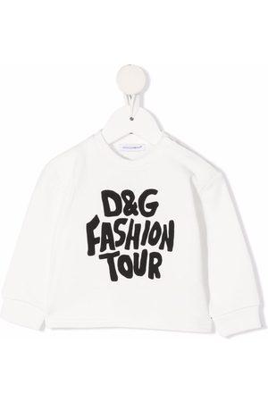 Dolce & Gabbana Fashion Tour-print crew neck sweatshirt
