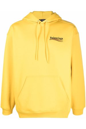 Balenciaga Embroidered-logo drawstring hoodie