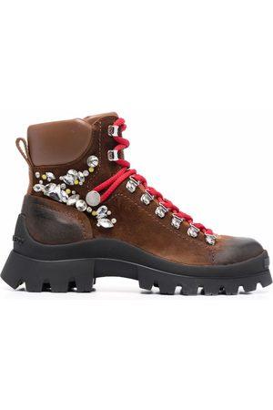 Dsquared2 Rhinestone-embellished combat boots