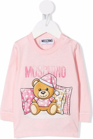 Moschino Teddy-print cotton sweatshirt