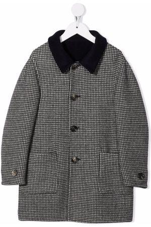 Brunello Cucinelli Jongens Donsjassen - Houndstooth-pattern coat