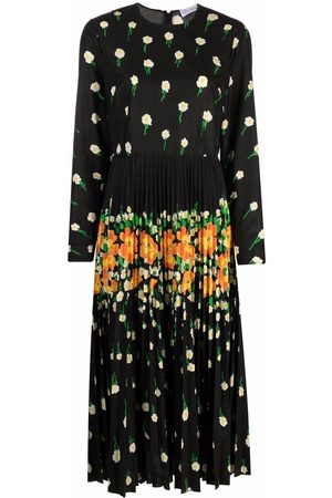 RED Valentino Flower Explosion print pleated dress