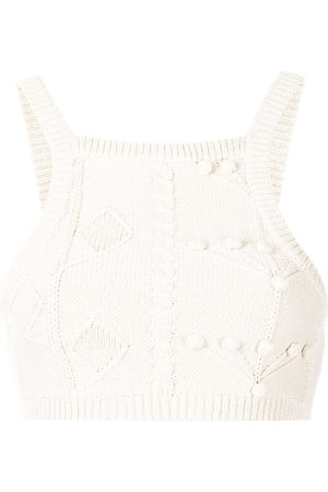 Alice McCall Songbird knitted cropped top