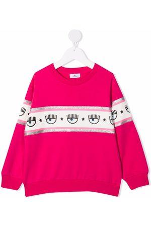 Chiara Ferragni Logo-tape print cotton sweatshirt