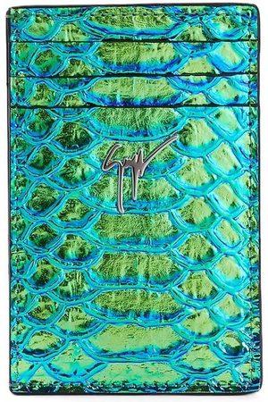 Giuseppe Zanotti Albert iridescent python-print cardholder