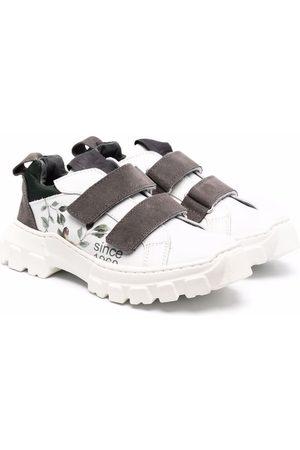 MONNALISA Leaf-print low top sneakers