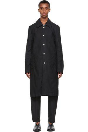 3MAN Heren Korte jassen - Black Slim Snap Trench Coat