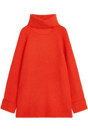 Arket Oversized Ribbed Tunic - Orange