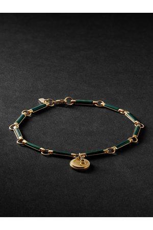 Foundrae Heren Armbanden - 18-Karat Gold Malachite Bracelet